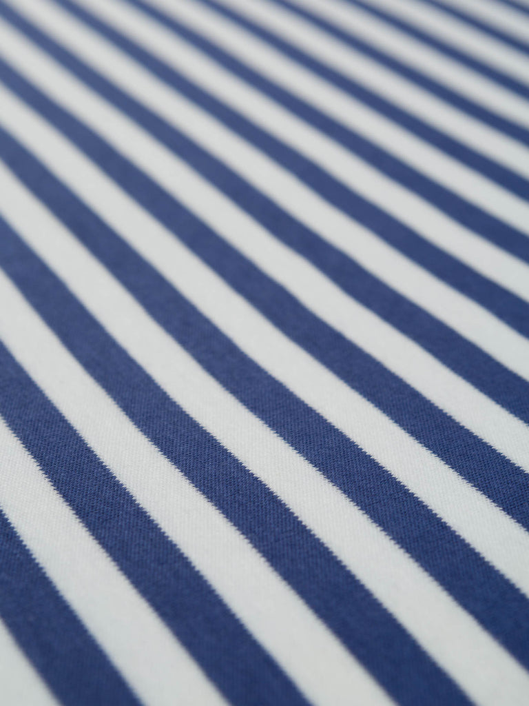 Softly Softly Narrow Stripe - Navy - Organic Cotton Interlock