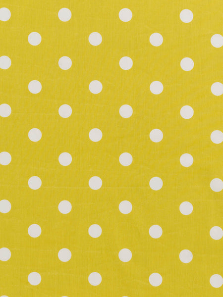 Chartreuse Green and White Polka Dot - Organic Cotton Poplin - Fabworks Online