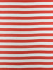 Wide Stripe - Terracotta and White - Organic Cotton Single Jersey