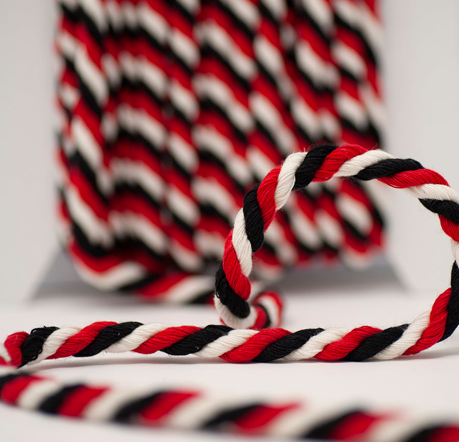 Multi Twisted Cord - Red / Black / White
