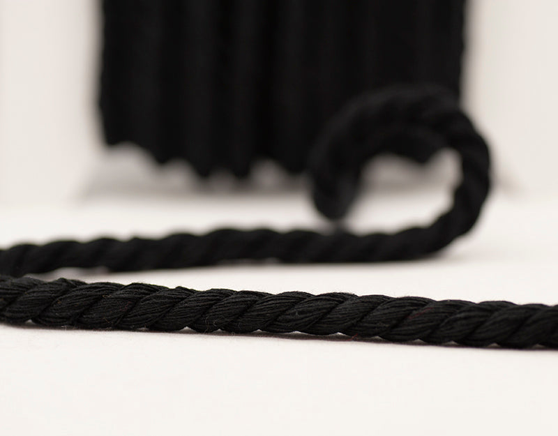 Twisted Chunky Cord - Black