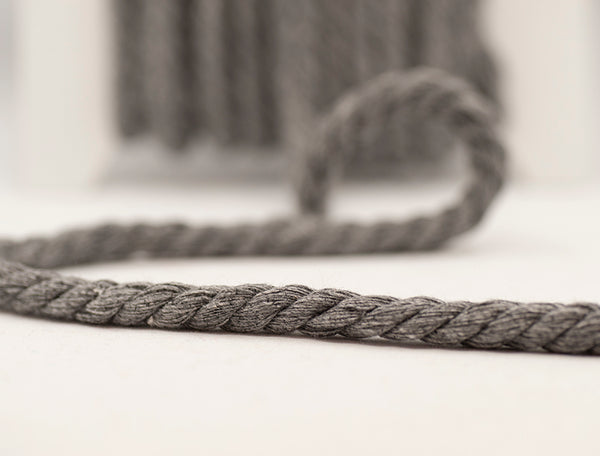 Twisted Chunky Cord - Multitonal Grey