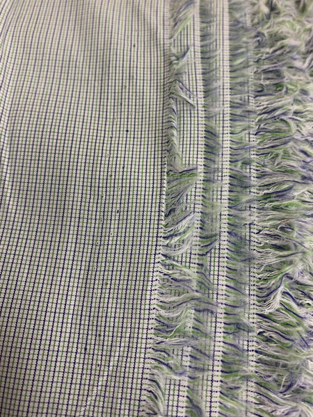 Scrubs Fabric A: Glorious Green & Navy Micro Check Cotton