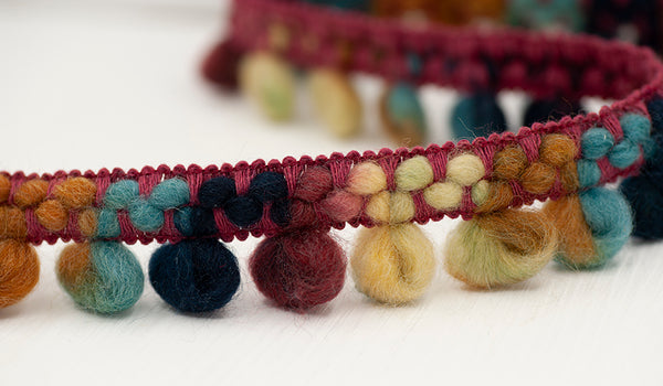 Looped Bouclé Wool Trim - Autumn