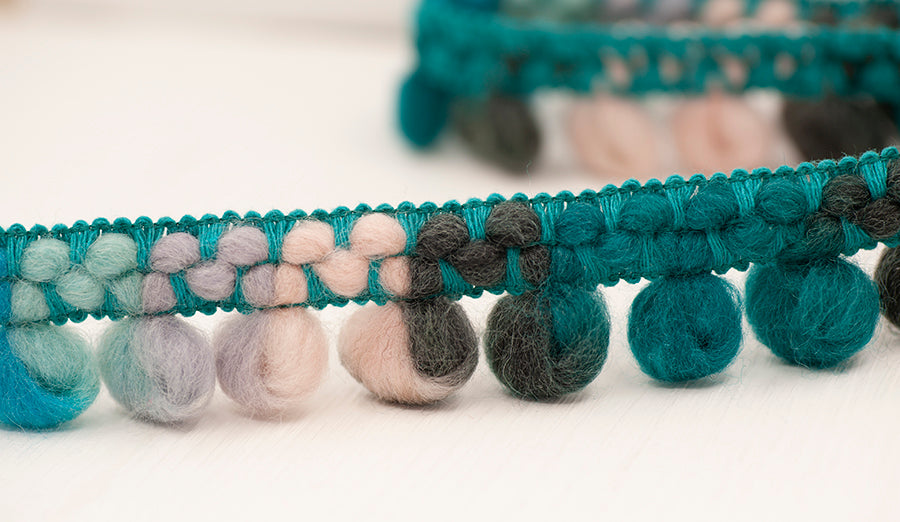 Looped Bouclé Wool Trim - Glacier