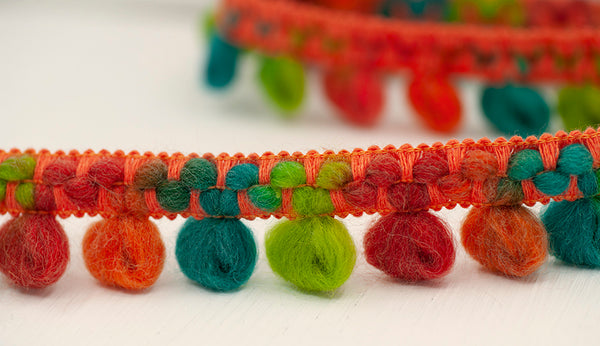 Looped Bouclé Wool Trim - Fiesta