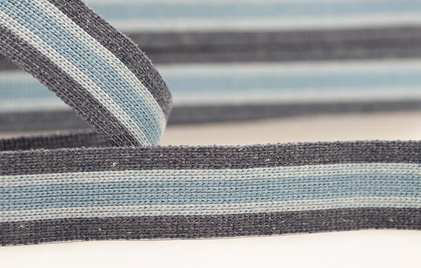 Flat Webbing Stripe - Charcoal / Grey / Denim