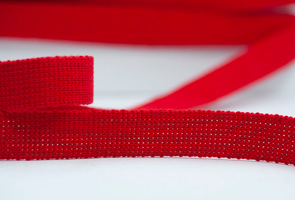 Flat Woven 25mm Braid - Red