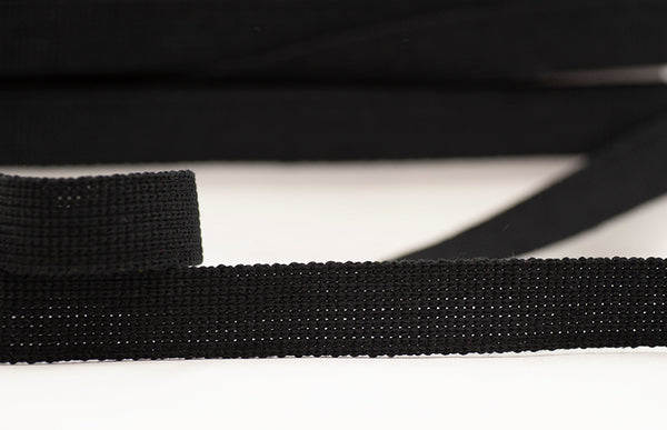 Flat Woven 25mm Braid - Black