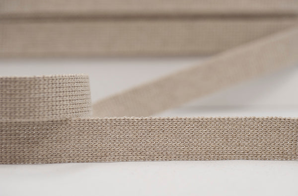 Flat Woven 25mm Braid - Cream