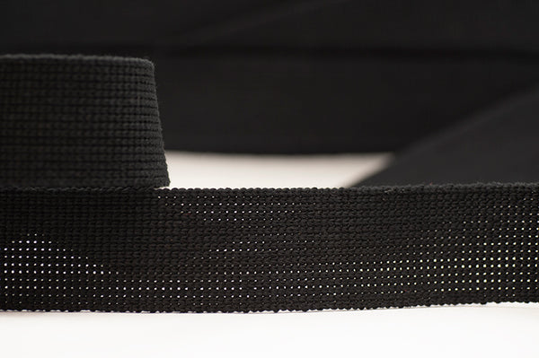 Flat Woven 40mm Braid - Black