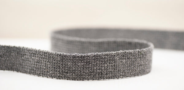 Flat Woven 25mm Braid - Grey