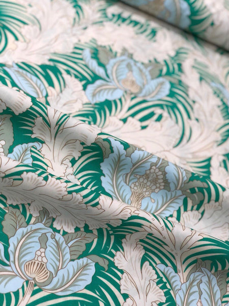 Tulip and Acanthus (Morris Style) Poplin - Fabworks Online