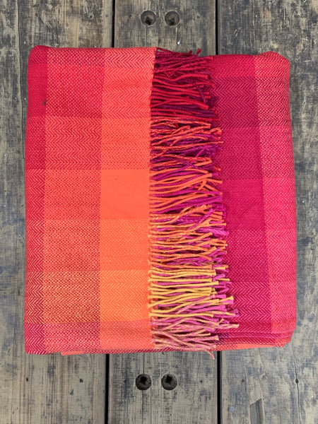 Magical Sunrise - Irish Wool Throw