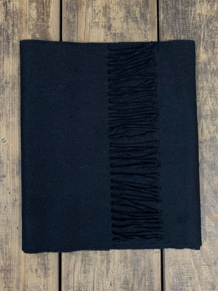 Luxe Black - Yorkshire Wool Scarf (Wool & Cashmere)