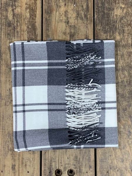 Mono Check - Lambswool Scarf (XL)