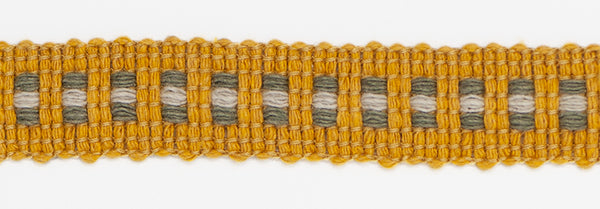 Mosaic Braid - Mustard & Grey
