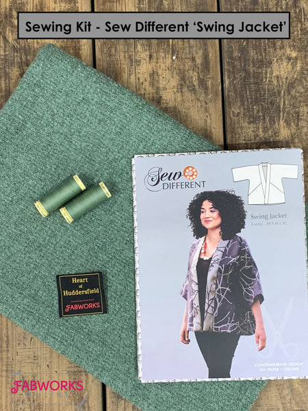 Sew Different's 'Swing Jacket' Sewing Kit x Thistledown Marl