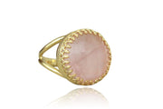 Charming Rose Quartz Ring in 14k Gold-filled Band - Elegant Handmade Jewelry - Sizes 3-12.5 - Casual Ring, Bridal Ring, Birthday Ring, Prom Ring