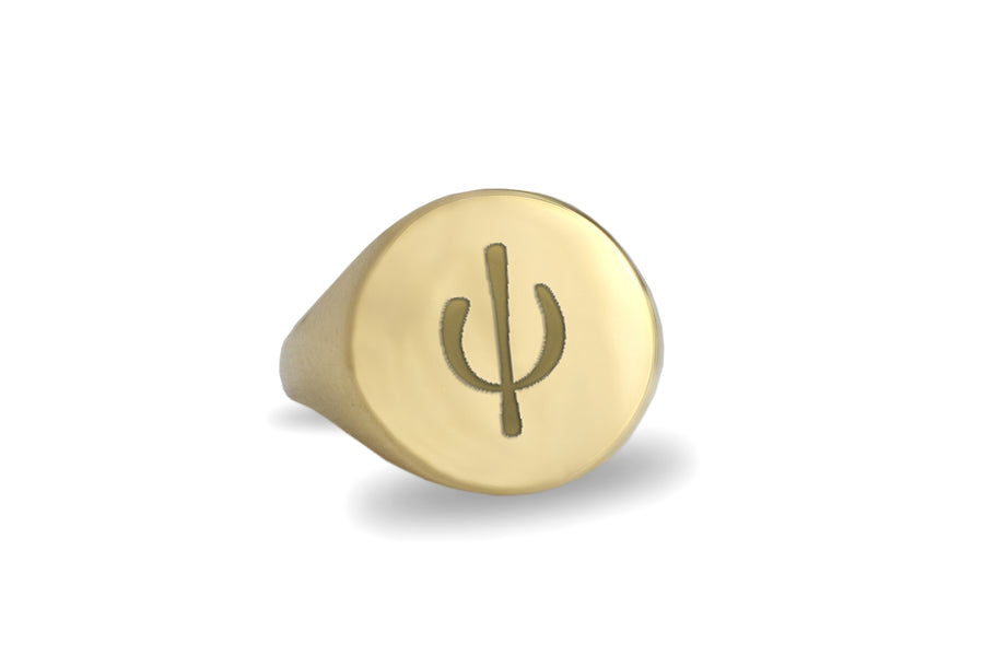Gold Plated Custom Psi Greek Letter Rings