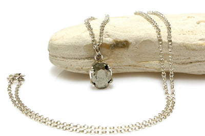pyrite stone necklace,grey pendant necklace,silver chain necklace,bridal necklace,bridesmaid gifts,maid of honor jewelry