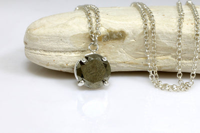 pyrite necklace,pyrite pendant,gemstone necklace,silver chain necklace,bridal necklaces,bridesmaid necklaces,stone pendant