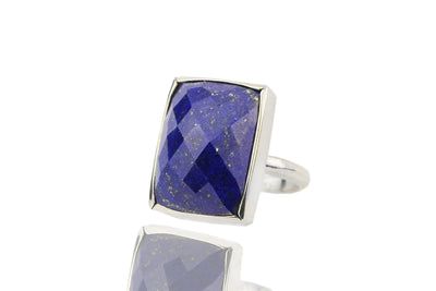 Lapis ring,September birthstone ring,Lapis lazuli rings,rectangular rings,rectangle rings,bridal ring,gemstone rings