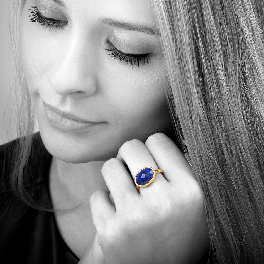 Lapis ring,oval ring,September birthstone ring,holiday gift,custom ring,personalized ring,engraved ring