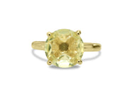 Ladies Rings - Adorable Lemon Quartz in 14K Gold-filled Setting - Real Rings for Women - For Birthdays, Weddings, and Celebrations