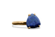 September Birthstone Ring - Lapis Lazuli in 14k Gold - Birthday Rings, Everyday Rings, Stack Rings
