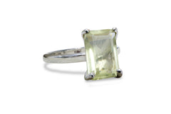 925 Sterling Silver Rings - Lemon Quartz Ring in 925 Sterling Silver - Exquisite Gift and Stackable Rings