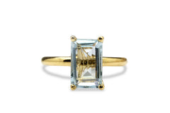 Blue Topaz Ring - Beautiful Topaz Gemstone Gold Ring for Special Occasions - Memorable Ring for Memorable Events - Handmade