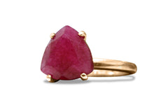 Ruby Rings for Women - 3.87CT Ruby in 925 Sterling Silver Women Jewelry - Red Jewelry for Any Celebration and Occasion