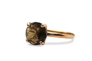 Gem Rings for Women - Smoky Quartz Gemstone in 14K Gold-filled Setting - Formal and Boho Jewelry for Women - Handmade