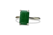 Dainty Rings for Women - 925 Sterling Silver Green Aventurine Ring - Formal, Anniversary, Engagement Rings for Women