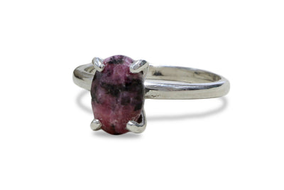 Ladies Jewelry - Oval 3.87CT Rhodonite in 925 Sterling Silver - Dainty Gold Jewelry and Silver Jewelry