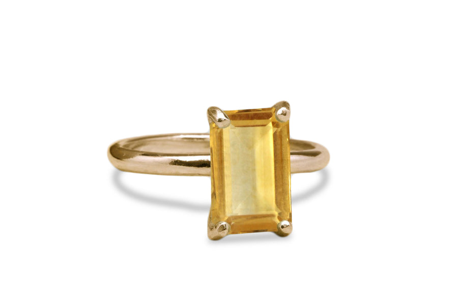 Citrine in Rose Gold 14k Ring