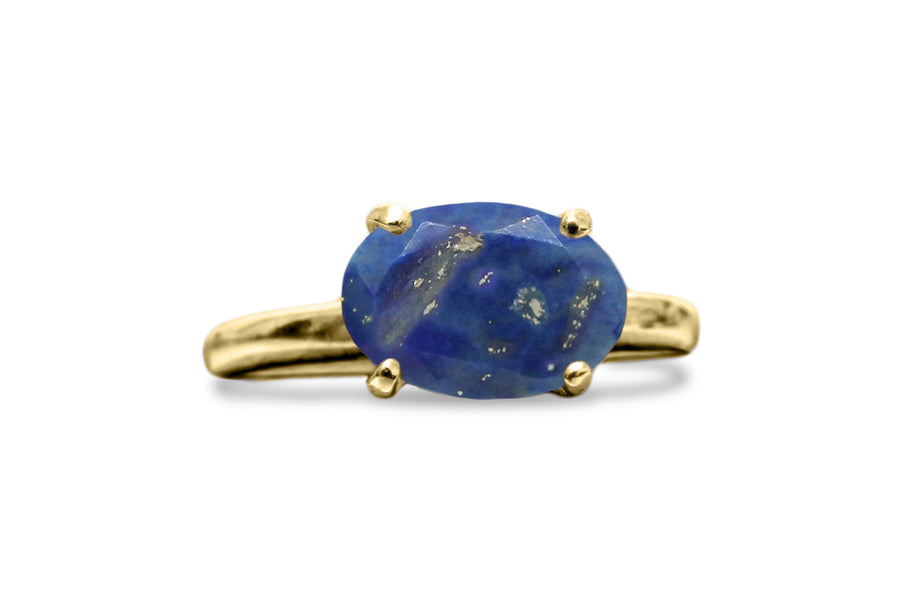 Lapis Lazuli Ring in Sterling Silver - Handmade Blue Ring for Any Occasion - Gift Ideas for Her