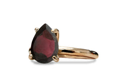 Garnet Jewelry for Women in 14K Gold - Attractive January Birthstone Jewelry - Red Ring for Gifts, Birthdays, Anniversaries