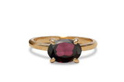 Garnet Rings for Women - 10x7mm Garnet in 14k Gold-filled Band - Handmade 14k Birthstone Ring - Garnet Rings for Women
