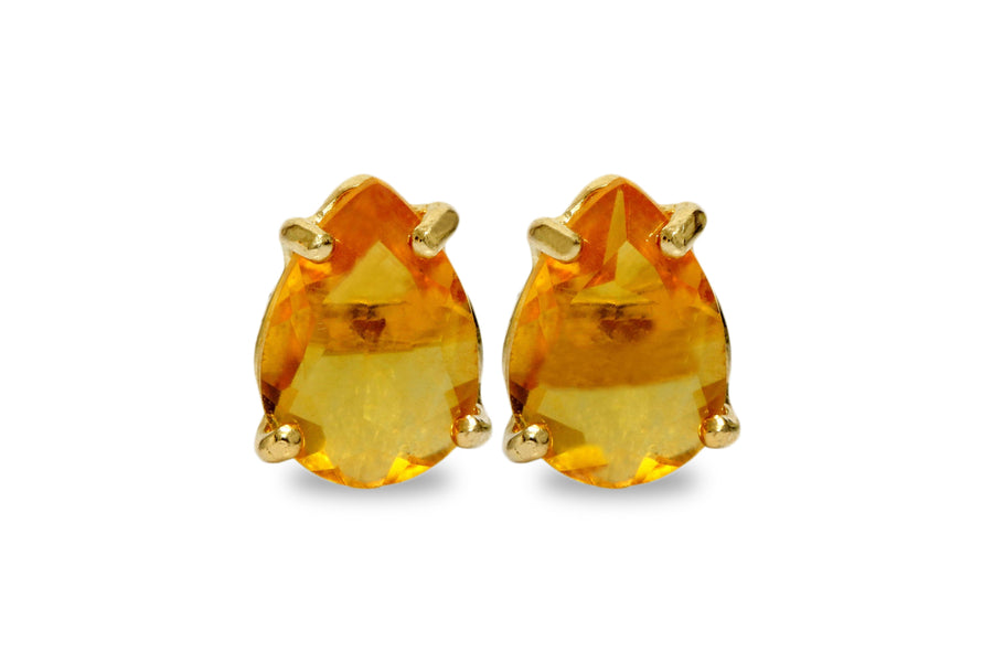 Citrine Earrings in 14k Gold Filled