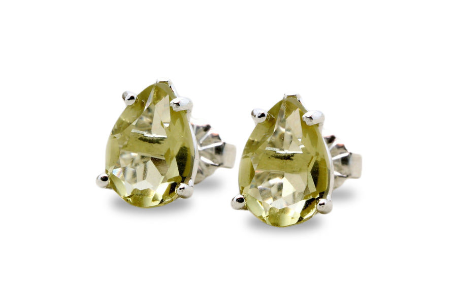 925 Jewelry for Women - Lemon Quartz Women Stud Earrings for Celebrations, Occasions and Daily Fashion