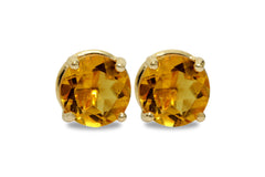 Citrine Post Earrings for Women - 14k Gold Filled Birthstone Earrings, Bridal Jewelry, Everyday Prong Earrings