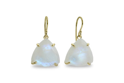 Dangling Moonstone Earrings - Fashion Earrings, Wedding Earrings, June Birthstone Jewelry for Women