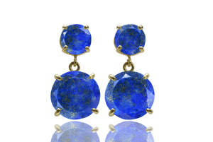 Lapis earrings,gold earrings,chic earrings,long earrings,gemstone earrings,statement earrings,gifts for her