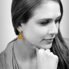 Citrine earrings,November birthstone earrings,semiprecious earrings,handmade earrings,gemstone earrings