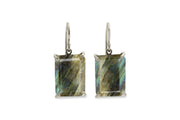 18x13mm Labradorite Earrings in 14k Gold - Dangling Fine Jewelry for Celebrations, Casual, Formal and Boho Jewelry