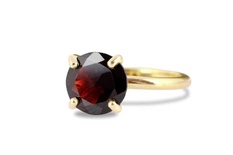 January Birthstone Rings - Garnet Ring in 14k Rose Gold - 2nd Anniversary Gifts, Everyday Ring, Fashion Jewelry