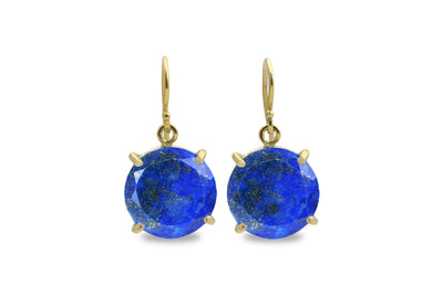 Gemstone Earrings for Women - Lapis Lazuli in 14k Gold Filled Dangles - Birthstone Earrings for Gifts and Everyday Fashion