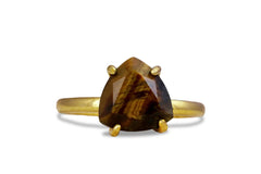 14k Jewelry - Tiger Eye in 14k Rose Gold - Boho Rings for Women - Statement and Stack Rings for Women